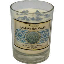 Load image into Gallery viewer, Harmonia Soy Gem Candle - Guidance Angelite