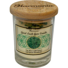 Load image into Gallery viewer, Harmonia Soy Gem Candle - Good Luck Green Aventurine
