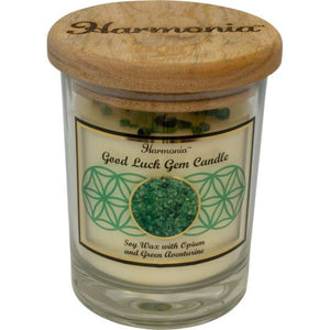 Harmonia Soy Gem Candle - Good Luck Green Aventurine