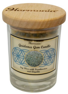 Harmonia Soy Gem Candle - Guidance Angelite