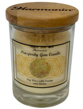 Load image into Gallery viewer, Harmonia Soy Gem Candle - Prosperity Citrine