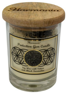 Harmonia Soy Gem Candle - Protection Black Tourmaline