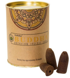Goloka Backflow Incense Cones - 1 Can