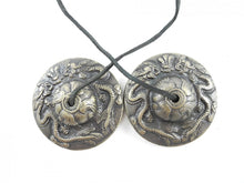 Load image into Gallery viewer, Tibetan Meditation Tingsha Cymbals - Intricate Dragon