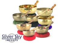 "Load image into Gallery viewer, 8-Note ""Raga Purvi"" Himalayan Singing Bowl Set (5.75-8.75"")"