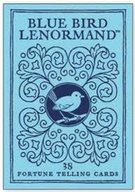 BLUE BIRD LENORMAND: Fortune Telling Cards (38-card deck & 40-page instruction booklet) (updated)