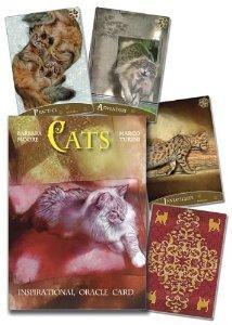 CATS INSPIRATIONAL ORACLE CARDS (32-card deck & 160-page book)