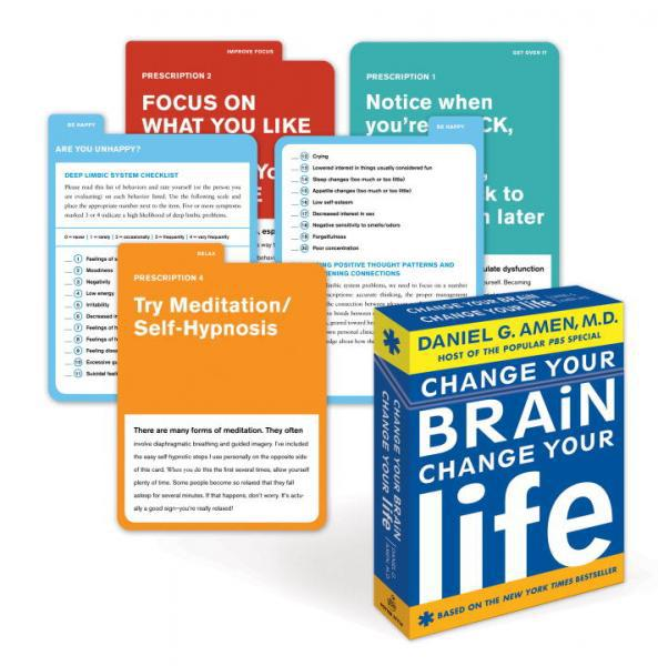 CHANGE YOUR BRAIN, CHANGE YOUR LIFE DECK (50 tabbed cards)