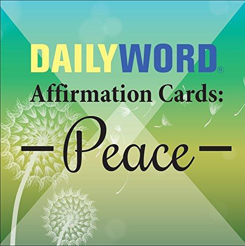 DAILY WORD AFFIRMATION CARDS: Peace (31-card deck)