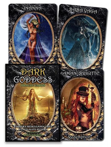 DARK GODDESS ORACLE CARDS (48-card deck & 106-page guidebook)