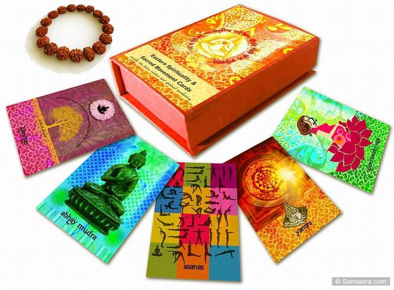 EASTERN SPIRITUALITY & SACRED MOVEMENT CARD DECK (50 large format cards packaged in a plastic case w/bonus gift)