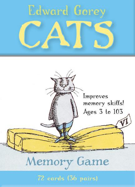 EDWARD GOREY CATS: Memory Card game (72 card (36 pairs) deck)