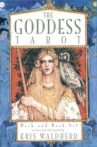 "GODDESS TAROT SET (bk & 78-card deck; full color spread sheet; deck measures 3-1/2"" x 4-3/4"")"
