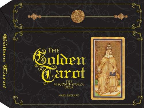 GOLDEN TAROT OF VISCONTI SFORZA (deck, book, reading cloth & gift box)