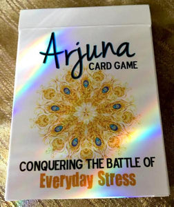 ARJUNA CARD GAME: Conquering The Battle Of Everyday Stress (56 card deck w/instruction card, boxed)