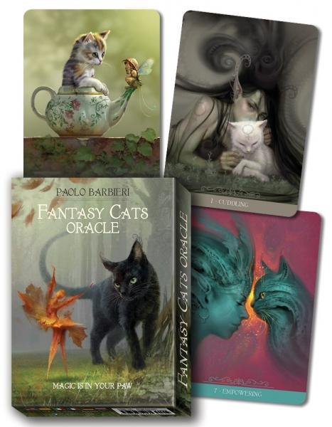 BARBIERI FANTASY CATS ORACLE (23-card deck & instruction booklet)