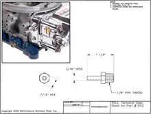 Load image into Gallery viewer, Fuel Fittings - Hex #1052-p