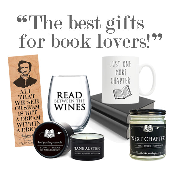 Best Gifts for Book Lovers, Readers, Librarians, Teachers, Bibliophiles, Book Worms, Bookish, Writers, Authors, Library, Jane Austen, Poe, Hemingway, Angelou, Shop, Made in USA