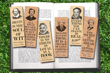 Load image into Gallery viewer, Set of 6 Famous Male Bookmark Set