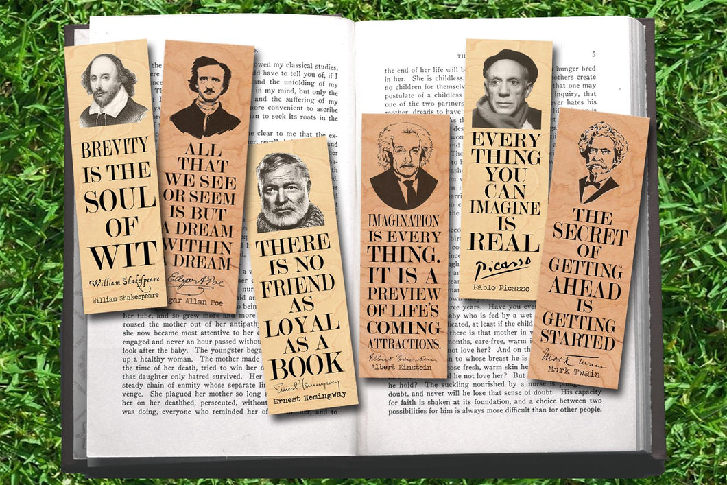 Set of 6 Famous Male Bookmark Set