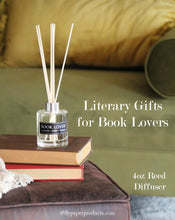 Load image into Gallery viewer, Book Lover - 4oz Reed Diffuser Set - Lavender + Lemon + Jasmine
