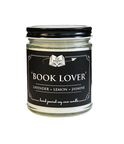 Book Lover 9oz Hand Poured Soy Candle