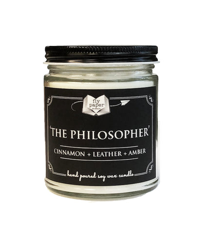 The Philosopher 9oz Soy Candle - Cinnamon + Leather + Amber