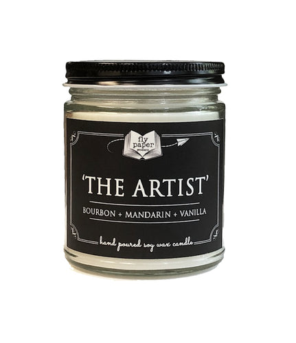 The Artist - Bourbon + Mandarin + Vanilla - 9oz Hand poured Soy Candle