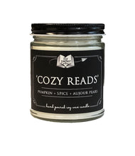Load image into Gallery viewer, Cozy Reads- 9oz Hand poured Soy Candle