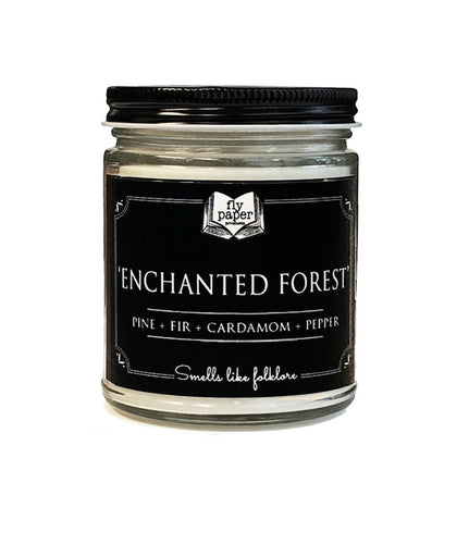 Enchanted Forest - 9oz Glass Soy Candle - Pine + Fir + Cardamom + Pepper