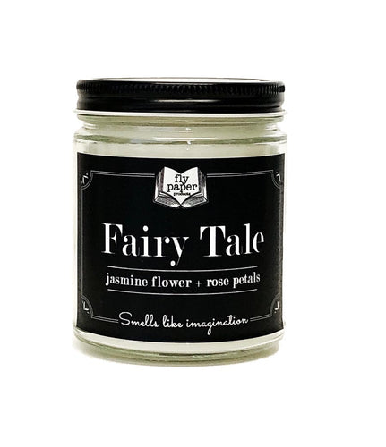 Fairy Tale 9oz Soy Candle - Jasmine Flower + Rose Petals