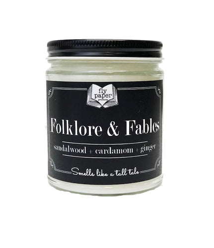 Folklore & Fables 9oz Soy Candle - Sandalwood + Cardamom + Ginger