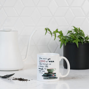You can't get a cup of tea big enough or a book long enough to suit me C.S Lewis - 11 ounce Ceramic Mug - Tea Lover Gift - Book Lover Gift