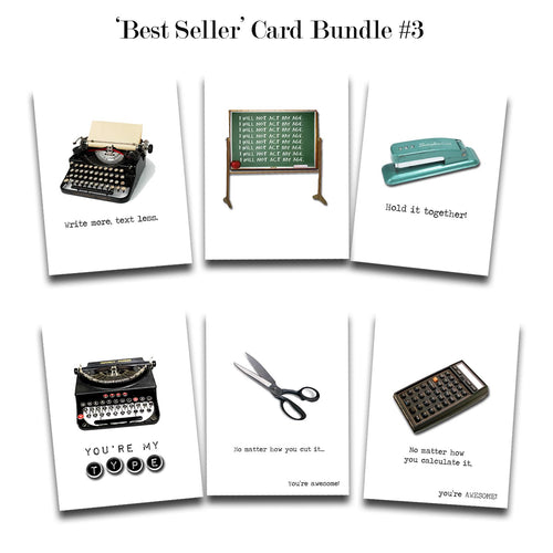 Greeting Card Bundle #3 - Set of 6 Assorted Bestselling Cards
