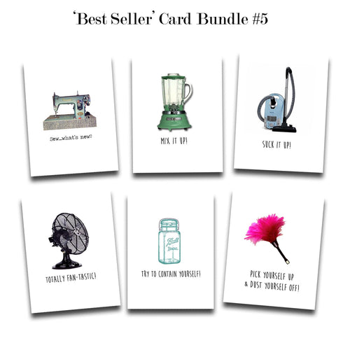 Greeting Card Bundle #5 - Set of 6 Assorted Bestselling Cards