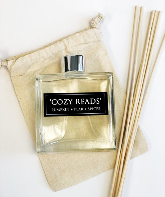 Cozy Reads - 7oz Reed Diffuser Set- Pumpkin + Aujour Pears + Apples