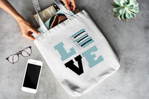 Love Books - Cotton Canvas Book Bag