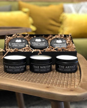 Load image into Gallery viewer, The Ultimate Boxed Candle Gift Set- 3 Literary themed Hand Poured Soy Candles
