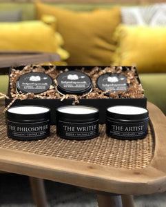 The Ultimate Boxed Candle Gift Set- 3 Literary themed Hand Poured Soy Candles