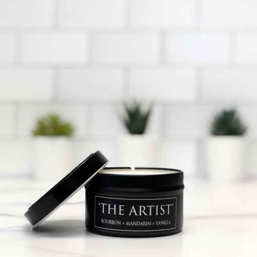 The Artist 6oz Tin Soy Candle - Vanilla + Mandarin + Spice