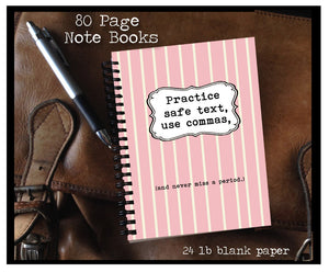 Practice safe text 80 page Note Book