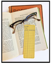 Load image into Gallery viewer, Set of 4 Library Card Wooden Maple Bookmarks
