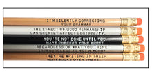 Load image into Gallery viewer, Set of 5 Assorted Deluxe 2 line Grammar Pencils