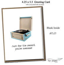 Load image into Gallery viewer, Just for the record, you're awesome! Classic Linen Series Greeting Card- Friendship Card