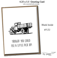 Load image into Gallery viewer, Thought you could use a little pick up! Classic Linen Series Greeting Card- Friendship Card