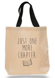 Just One More Chapter-Cotton Canvas Book Bag
