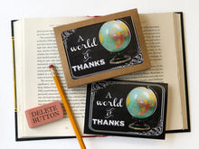 Load image into Gallery viewer, A World of Thanks- Boxed Thank You Cards
