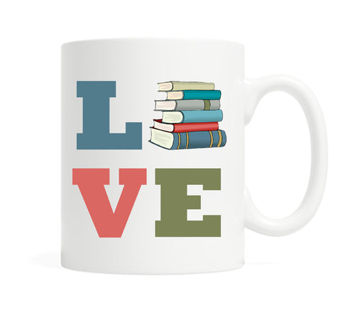 Love Books-  11 ounce Ceramic Mug