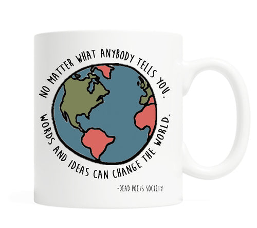 Words and ideas can change the world- 11 once Ceramic Mug