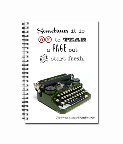Sometimes it is OK to tear a page out and start fresh. - 80 Page Note Book